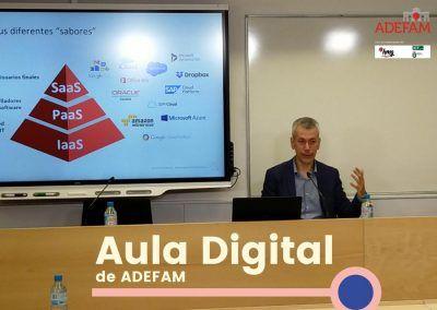 ADEFAM en una nueva sesión del programa AULA DIGITAL orienta a sus empresas asociadas sobre las mejoras de las estrategias digitales en la nube