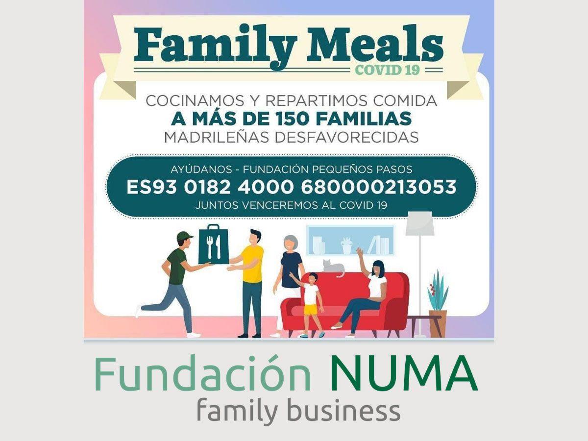 La Fundación Numa costea solidariamente los insumos de una semana para Family Meals