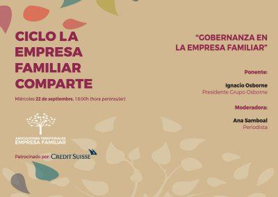 El ciclo La Empresa Familiar Comparte organiza una nueva sesión dedicada a la Gobernanza de la familia y la empresa