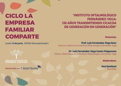 El ciclo La Empresa Familiar Comparte organiza una nueva sesión dedicada a los 135 años del Instituto Oftalmológico Fernández-Vega
