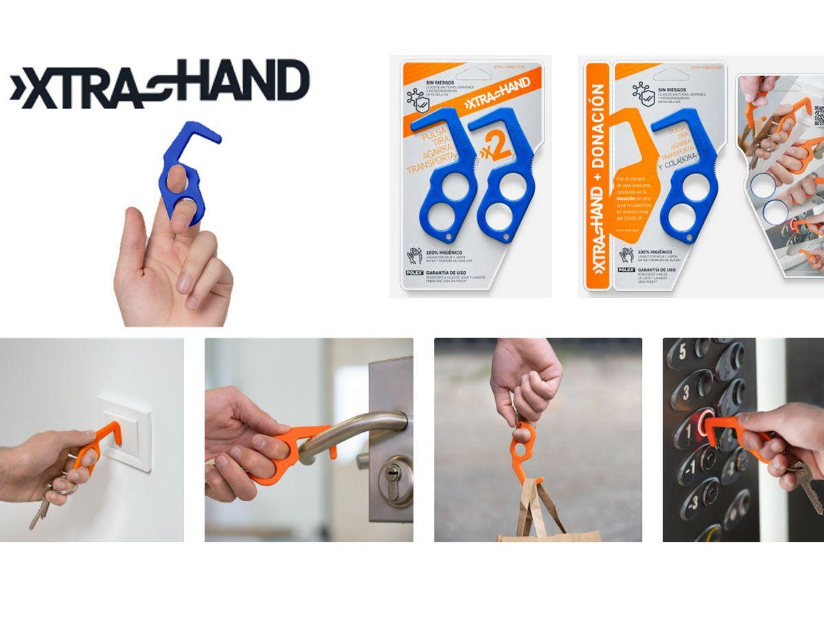 XTRA–HAND: Utensilio práctico e innovador para evitar contagios y facilitar el día a día