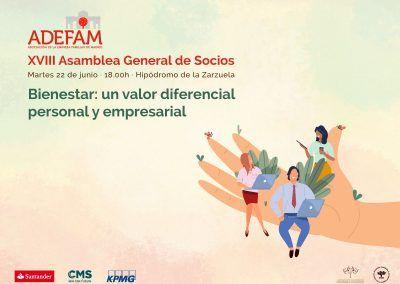ADEFAM celebrará su XVIII Asamblea de Socios el próximo 22 de junio